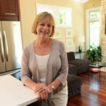 Susanne Tauke is founder and president of New American Homes. She is in the LIFEhouse model in Antioch's Newport Cove subdivision. Paul Valade | Daily Herald Staff Photographer
